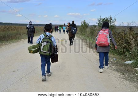 Refugees In Šid (serbian - Croatina Border)