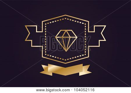 Monogram old diamond logo badge