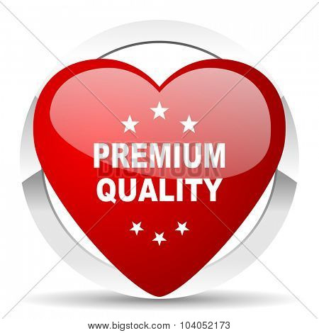 premium quality red red heart valentine icon on white background