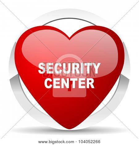 security center red red heart valentine icon on white background