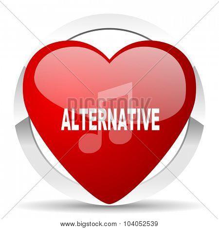 alternative music red red heart valentine icon on white background