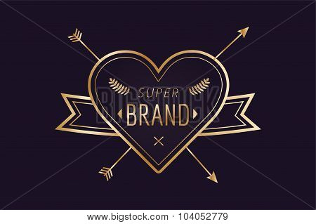 Heart icon vector logo