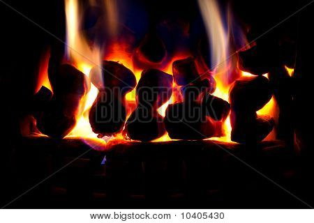 Glowing warm fire