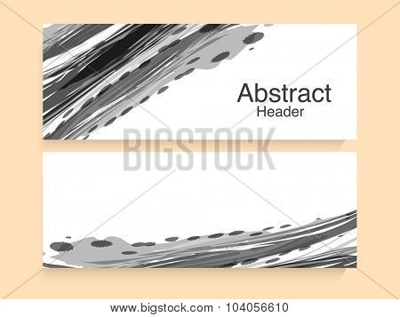 Stylish creative abstract website header or banner set.