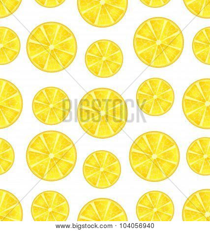Seamless Texture with Slices of Lemons