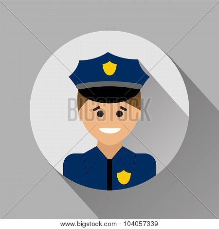 Policeman Flat Style Icon