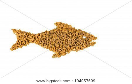 Dry Food In The Form Of Fish