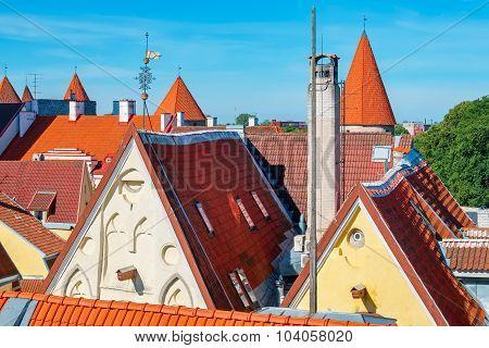 Tallinn Roofs. Estonia