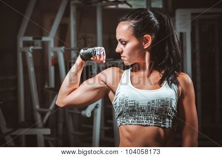 Beautiful young woman during fitness