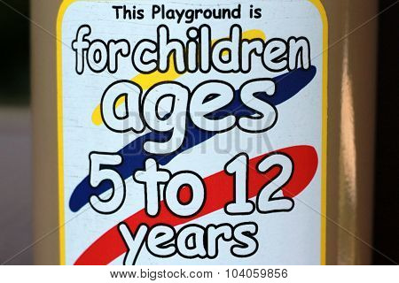 Age Limit sign on playground