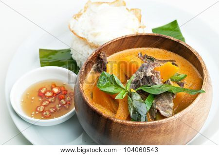 Pumpkin Red Curry with Beef