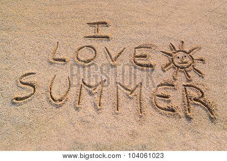 I Love Summer Symbol