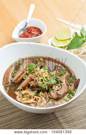 Thai Style Soup with Duck
