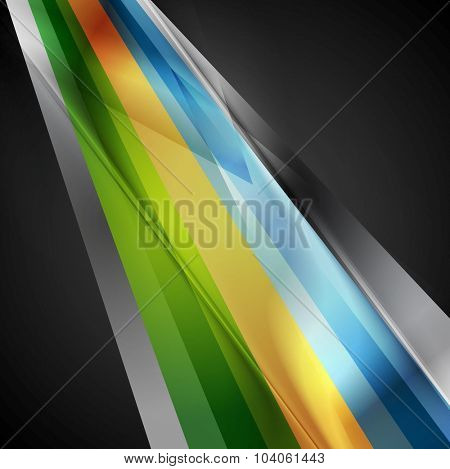 Bright geometric stripes hi-tech background