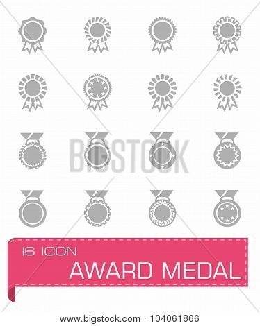 Vector Award medal icon set