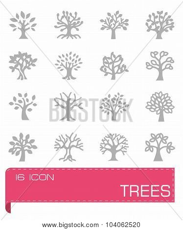 Vector Trees icon set