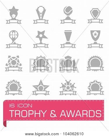 Vector Trophy and Awards icon set