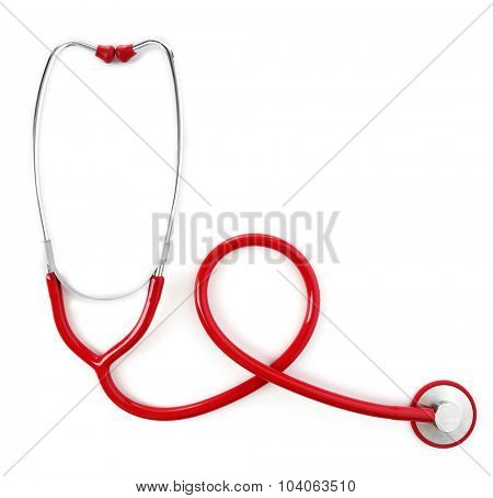 Medical stethoscope isolated on white