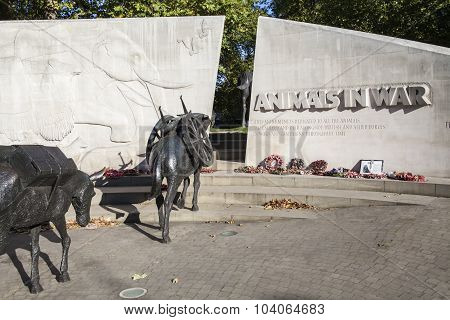 Animals In War Memorial In London