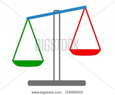 Vector illustration of weights