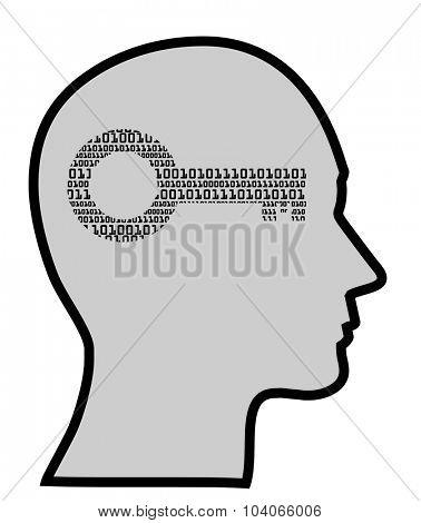 concept of digital mind, vector eps10