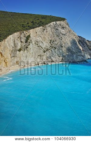 Amazing view of Porto Katsiki Beach, Lefkada, Ionian Islands