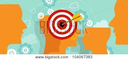 targeting customer head mind niche target market marketing concept business
