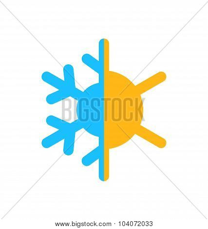 Logo of symbol climate balance, isolated on white background