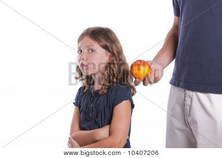 Girl Won't Eat Healthy Food