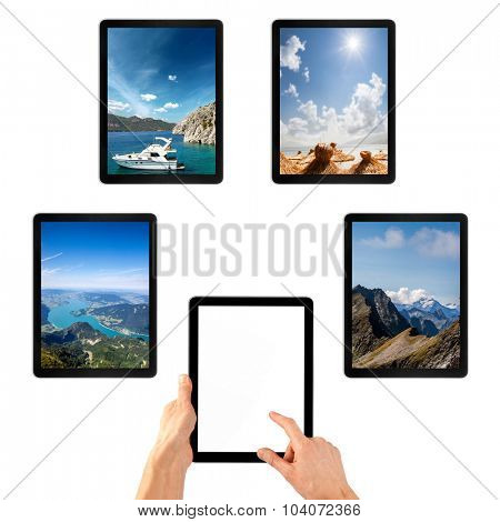 selection of recreation on the tablet