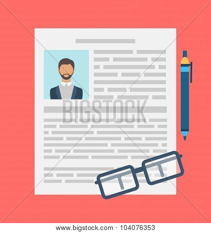 Writing a Business CV Resume Concept