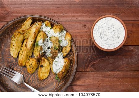 Potato Slices Baked In The Oven