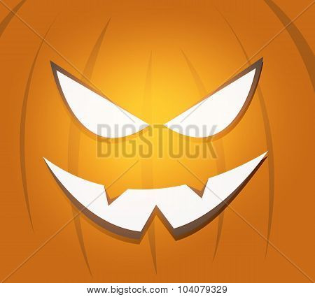 Halloween scary pumpkin face background