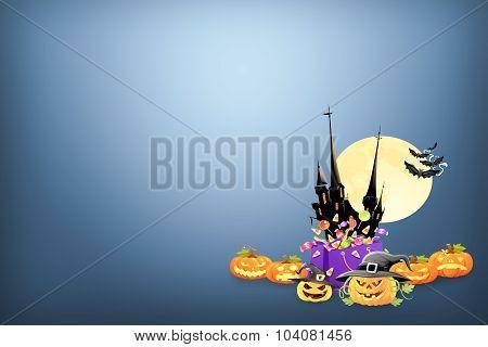 Halloween background holiday celebration idea concept