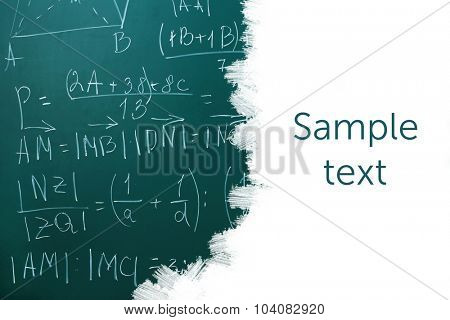 School blackboard with blank space for text
