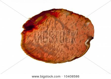 Red meat sausage slices