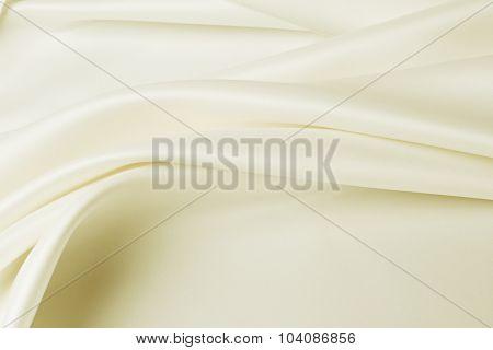 Closeup of lines in brown silk fabric