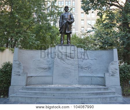 The Admiral Farragut Monument at Madison Square Park in New York