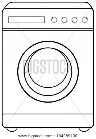 Household object washing machine illustration