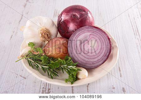 onion and garlic