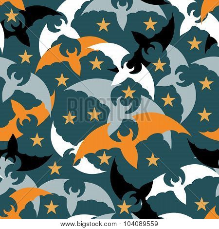 Seamless Pattern. The Bats. Halloween.