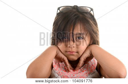 very Cute Image Of a young Latino actress with Glasses