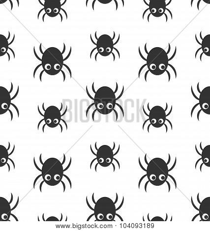 Seamless Pattern with Simple Spiders