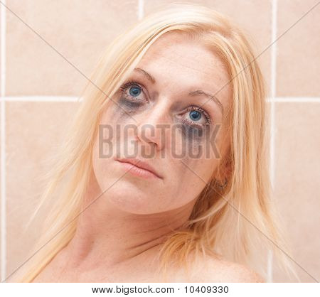 Lady's face with makeup