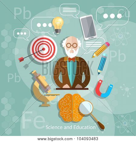 Education And Science Professor Back To School Theory International Education Biology Physics