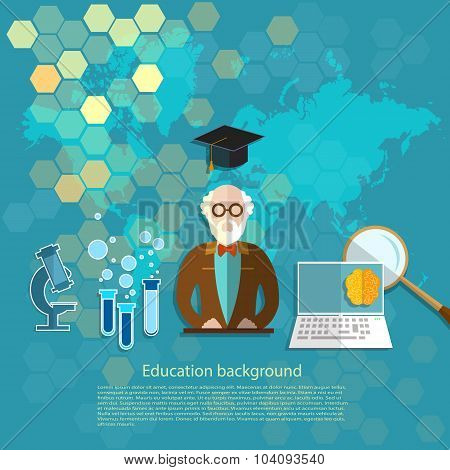 Education And Science Professor Teachers In The Classroom E-learning International Lecture Vector