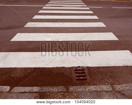 Retro Look Zebra Crossing Sign