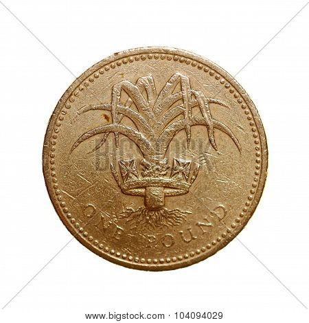 Retro Look One Pound Coin