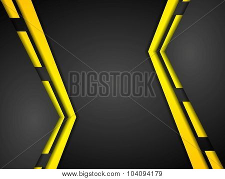 Contrast corporate abstract background. Vector design