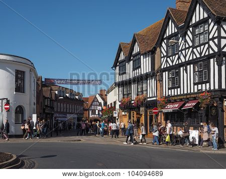 Tourists Visiting Stratford Upon Avon